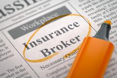 Insurance Broker Join Our Team. 3D Stock Illustration