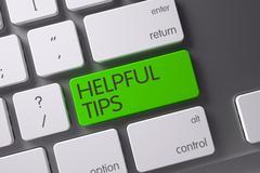 Helpful Tips CloseUp of Keyboard. 3D Stock Illustration