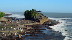 Pura Tanah Lot Temple in Tabanan, Bali, Indonesia Stock Footage
