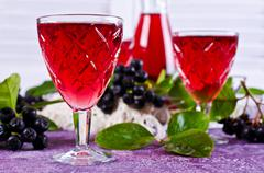 Transparent red drink Stock Photos