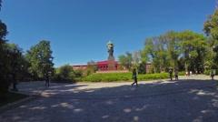 The walk in Kiev park Stock Footage