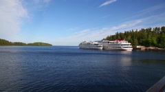 Valaam Island and the adjacent islands of Valaam archipelago in Russia Stock Footage