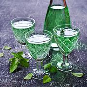 Transparent green drink Stock Photos
