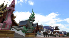 Wat ban den temple Chiang mai province Thailand Stock Footage
