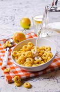 Round dry cereal Stock Photos