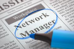 Network Manager Hiring Now. 3D Stock Illustration