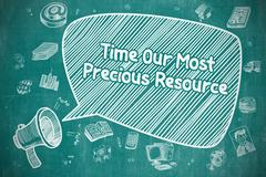 Time Our Most Precious Resource - Business Concept Stock Illustration