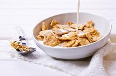 Cereal flakes for breakfast Stock Photos