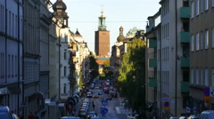 Hantverkargatan, Kungsholmen district, Stockholm, Sweden Stock Footage
