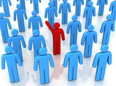 Standing out from the crowd 3d illustration Stock Illustration