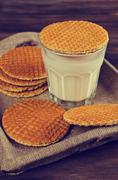 Traditional Dutch waffles Stock Photos