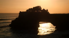 Pura Tanah Lot Temple at Sunset, Tabanan, Bali, Indonesia Stock Footage