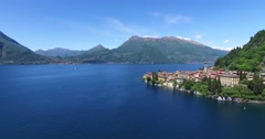 Aerial view 4k - Como Lake - Varenna Stock Footage