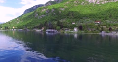 Village house on the Como lake - Lierna Stock Footage