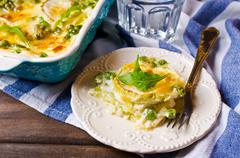 Casserole with zucchini Stock Photos