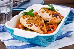 Grilled chicken breast Stock Photos