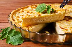 Tart with vegetables Stock Photos