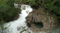 Gerlos stream flowing though the Wild-Gerlostal valley in Tirol/ Austria Stock Footage