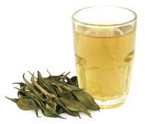 Medicinal Chirata with herbal juice Stock Photos