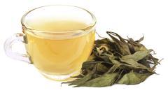 Ayurvedic medicinal Chirata with herbal tea Stock Photos