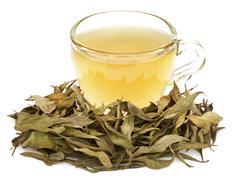 Medicinal Chirata with herbal tea Stock Photos