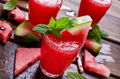 Drink of fresh watermelon Stock Photos