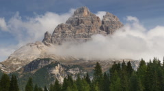 Time lapse zoom lake antorno to three peaks dolomites Stock Footage