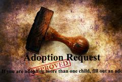 Adoption request grunge concept Stock Illustration