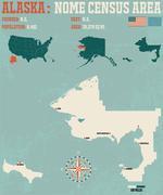 Nome Census Area in Alaska Stock Illustration