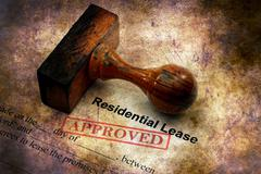Residential lease - approved grunge concept Stock Illustration