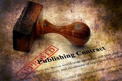 Publishing contract - approved grunge concept Stock Illustration