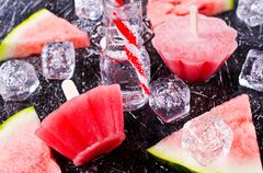 Homemade ice lolly Stock Photos