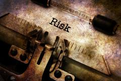 Risk text on typewriter grunge concept Piirros
