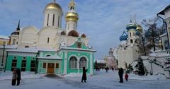 Serapionov tent, the Western porch of Nikon's Church Stock Footage
