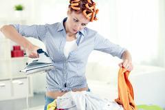 Hate housework Stock Photos