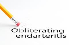 Pencil with eraser Obliterating endarteritis Stock Photos