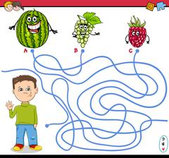 Path maze activity game Stock Illustration
