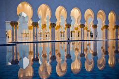 Sheikh Zayed White Mosque in Abu Dhabi Stock Photos