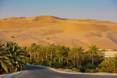 Desert dunes in Liwa oasis, United Arab Emirates Stock Photos