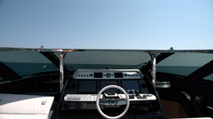 Cockpit on the upper deck of a luxury yacht Stock Footage