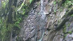 View into the water of m Wild-Gerlostal-Leiternkammerklamm gorge (Tirol/ Aust Stock Footage
