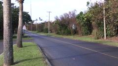 Empty road in Bermuda Stock Footage