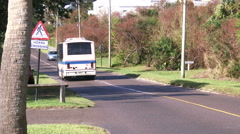 Busy road in Bermuda Stock Footage