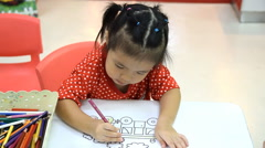 Children drawing and painting Stock Footage