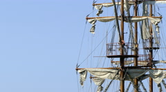 Detail of sail mast Stock Footage
