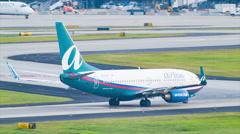 Air Tran Boeing 737 Taxiing at Atlanta Airport Stock Footage