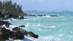 Choppy sea in Bermuda Stock Footage