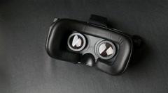Virtual reality mask. Stock Footage