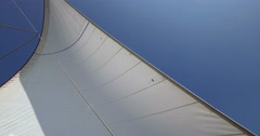 Yacht sail on a sunny day Stock Footage