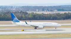 Copa Airlines Boeing 737 Taxiing in Washington DC Stock Footage